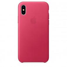 Чехол для iPhone Apple iPhone X Leather Case Pink Fuchsia